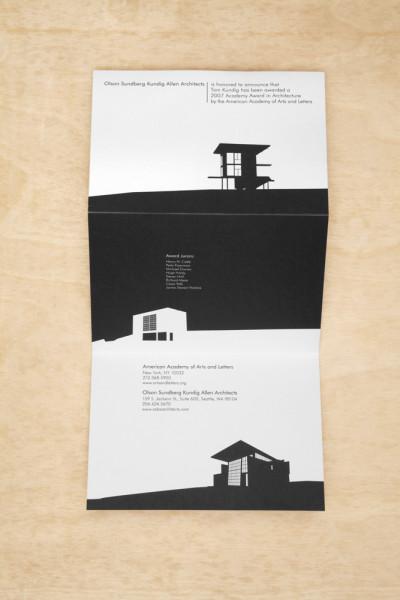 Olson Kundig Tri-fold Card