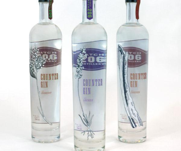 Counter-Gin-3-bottles
