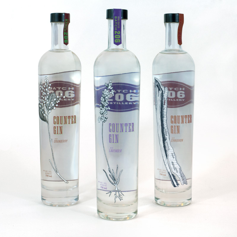 Counter-Gin-3-bottles