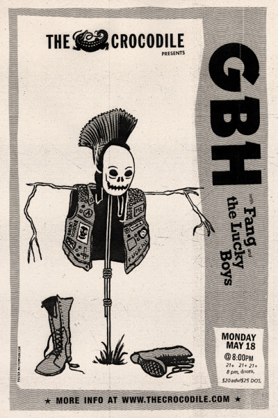 GBH at the Crocodile poster