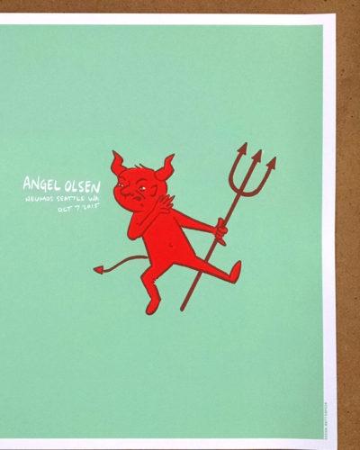 Angel Olsen at Neumos screen print