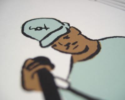 Chance the Rapper print (detail)