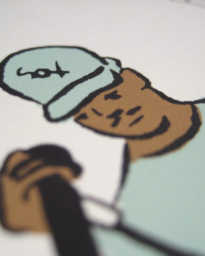 Chance the Rapper print (detail)