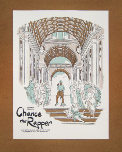 Chance the Rapper at the Paramount screen print