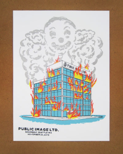 Public Image Limited at Showbox screen print