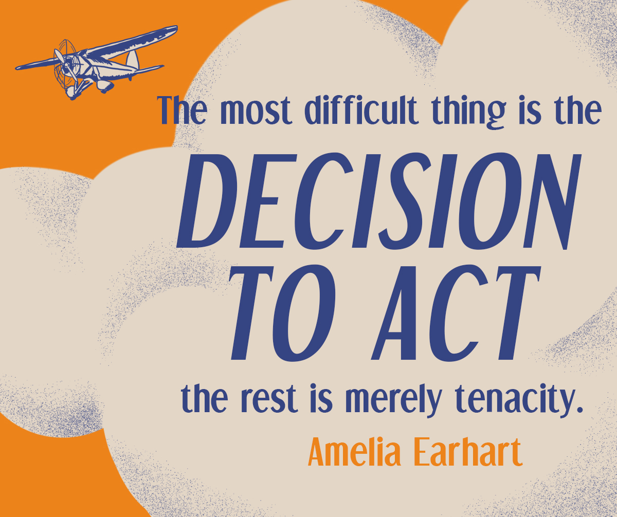 Gates Foundation, Amelia Earhart quote