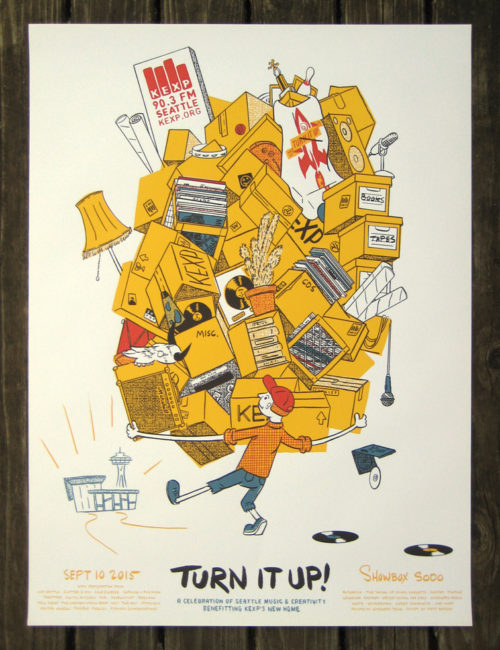 KEXP Turn it Up! poster